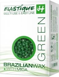 Filmwachs Elastique Green Jasmin in Perlen 500 g, Enthaarung ohne Vliesstreifen