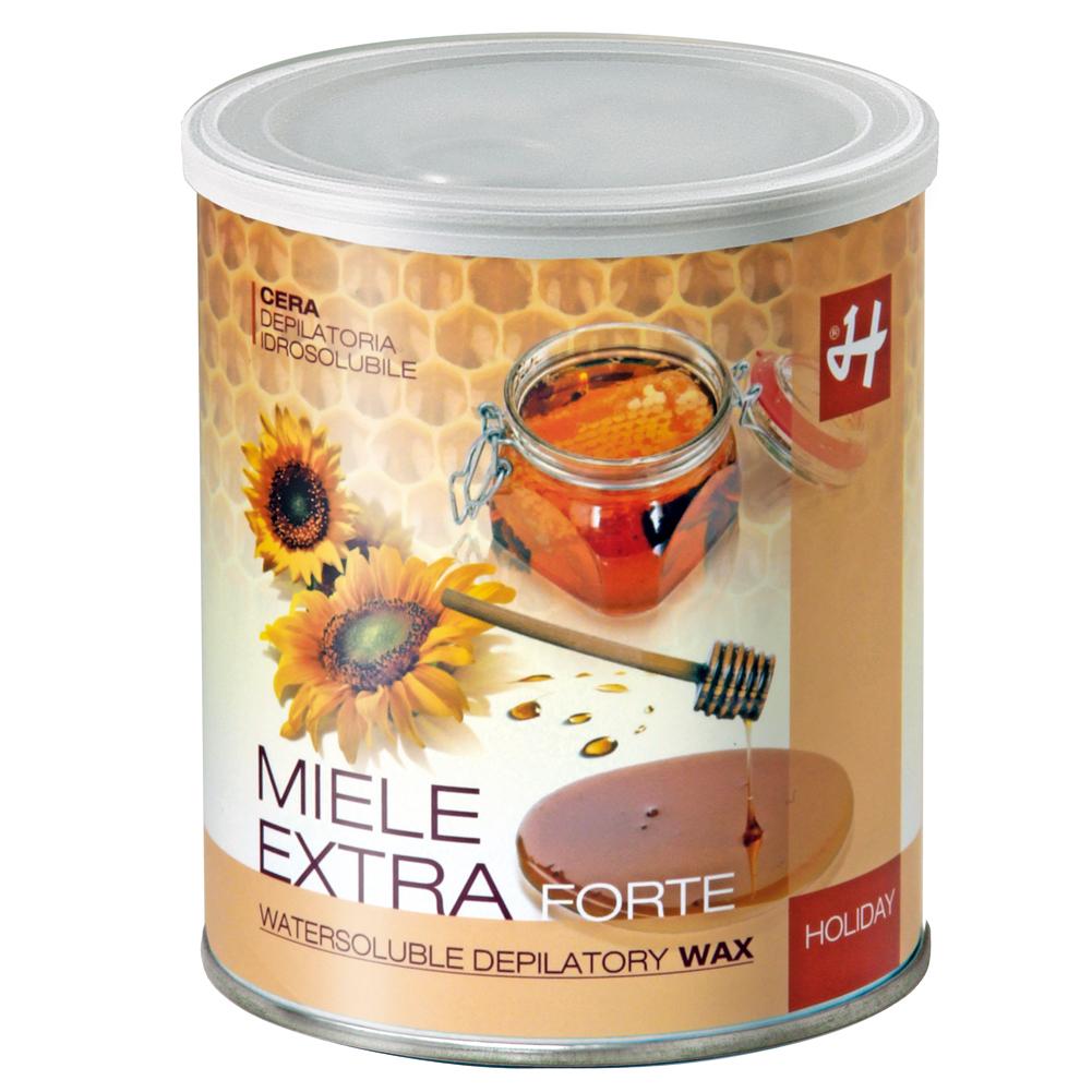 """Holiday Enthaarungswachs """"EXTRA STRONG"""", Zuckerpaste für die Enthaarung mit Vliesstreifen, 800 ml/1 kg Dose DA112"""