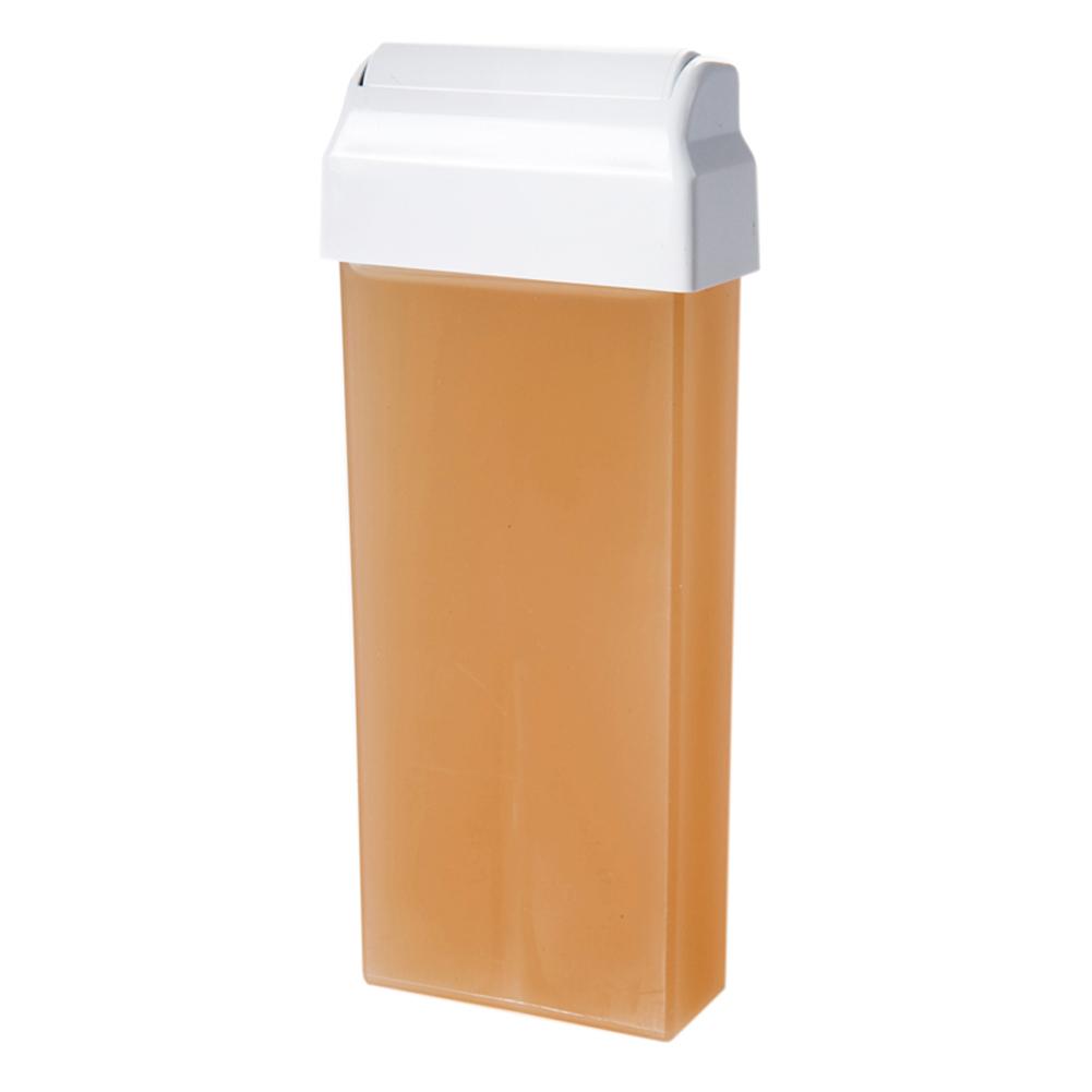 """Holiday Wachspatrone """"Natural"""" wasserlöslich - Zuckerpaste für die Enthaarung mit Vliesstreifen, großer Roller, 100 ml DK100"""