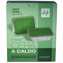Warmwachs Holiday Classic Green - 1 kg - Prof. Enthaarung ohne Vliesstreifen